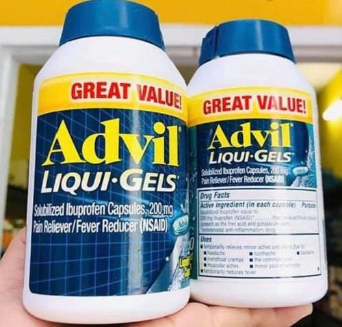 Tìm hiểu các thông tin về thuốc Advil 200mg