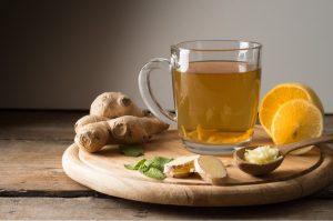 Trà gừng giúp giảm đau bụng kinh hiệu quả